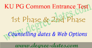 KU PGCET counselling dates 2017 certificate verification web options kucet
