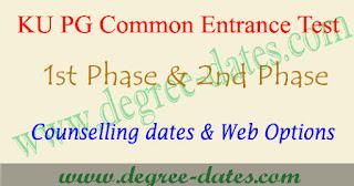 KU PGCET counselling dates 2017 certificate verification web options kucet
