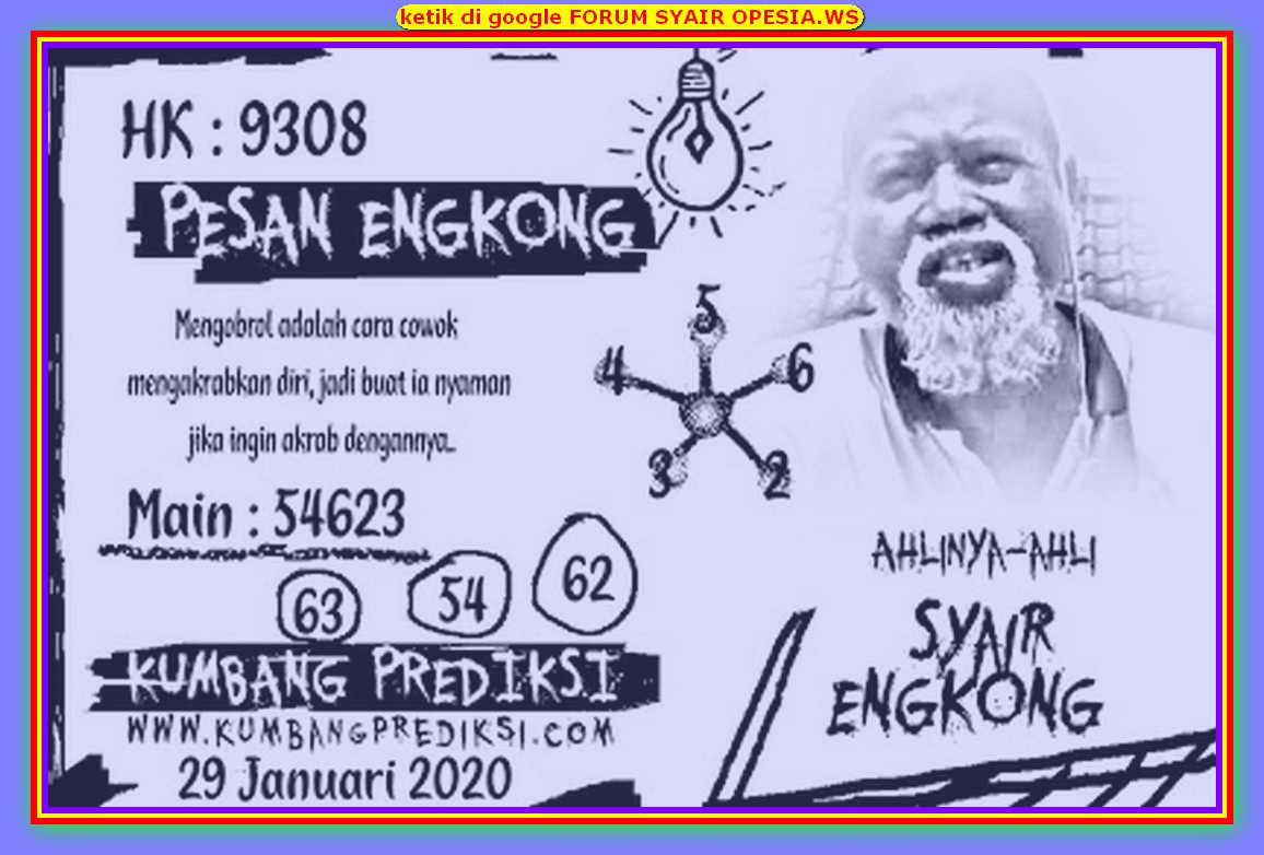 Kode syair Hongkong Rabu 29 Januari 2020 146