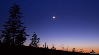 Crescent Moon and Mercury Conjunction