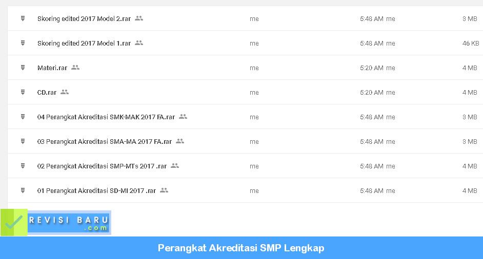 Instrumen Akreditasi SMP Terbaru