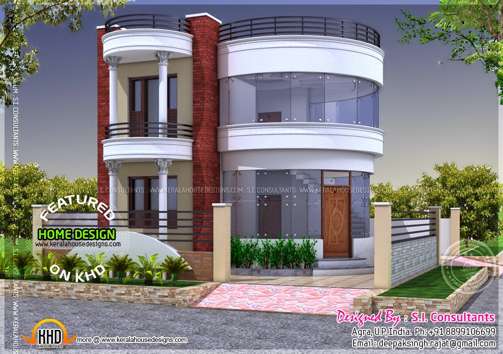 Round house design kerala home design and floor plans for Home outer colour design