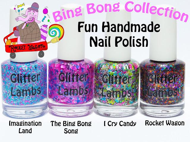 Bing Bong Glitter Topper Nail Polish Collection of 4