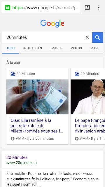carte amp dans le carroussel google