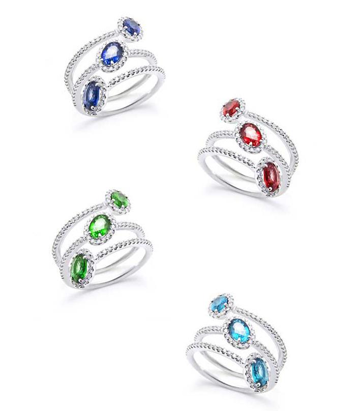anelli pietre colorate