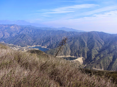 View northeast from Summit 2843 toward San Gabriel Canyon and Morris Reservoir