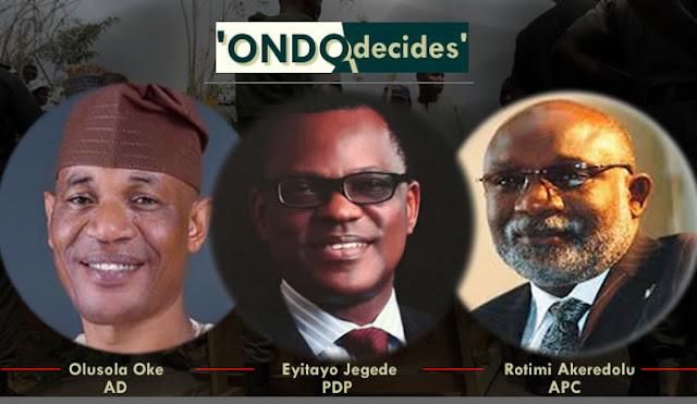 Ondo governorship election candidates