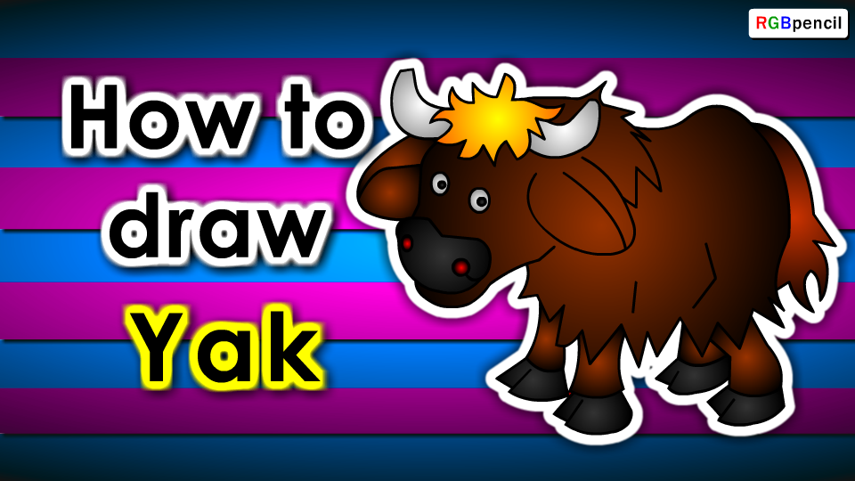How To Draw Yak Step By Step Yak Drawing Easy
