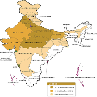wheat producing states in india