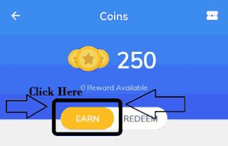 mx player coins EARN tab screenshot