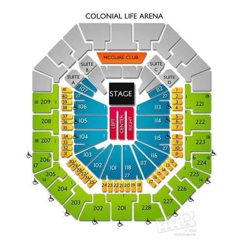 colonial life arena seating chart - Images for colonial life arena seating chart