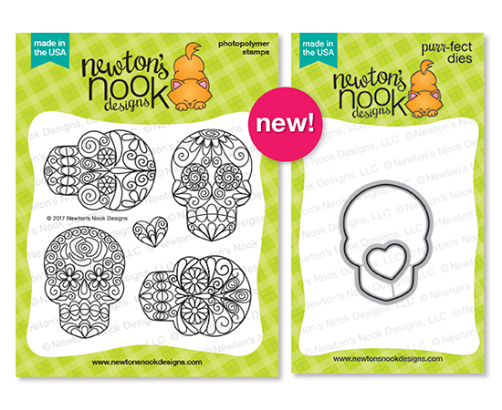 Beautiful Bones Stamp set and Die Set by Newton's Nook Designs #newtonsnook #handmade