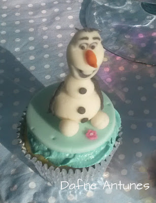 Cupcake do Olaf - Frozen
