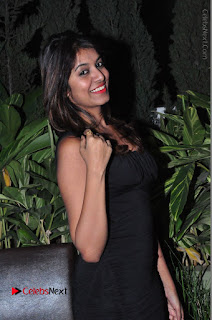 Actress Kavya Kumar Stills in Black Short Dress at F Club pre soft Launch  0011.JPG