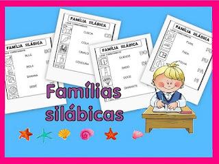 Alfabetização famílias silábicas