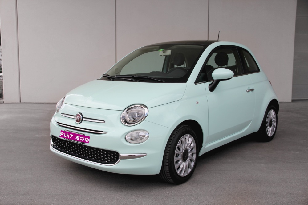 new car fiat 500 in mint green monia cagnazzo. Black Bedroom Furniture Sets. Home Design Ideas