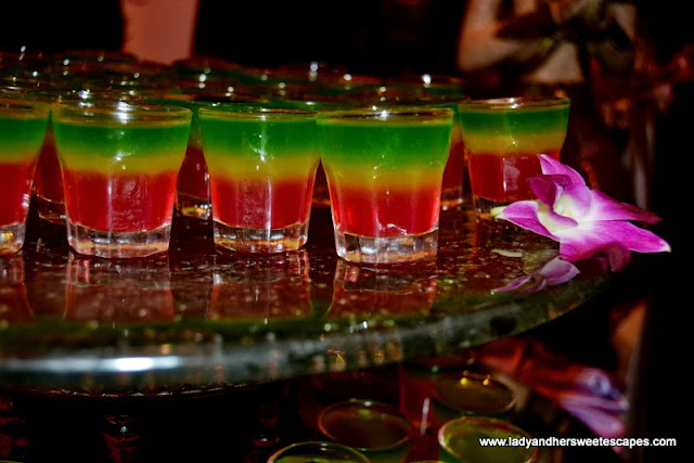 multicolored jelly in a cup from Royal Orchid