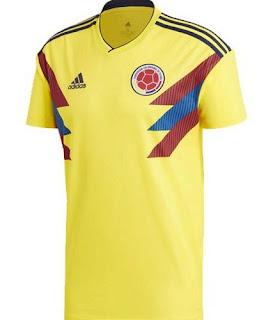 Jersey Kolombia Home Piala Dunia 2018
