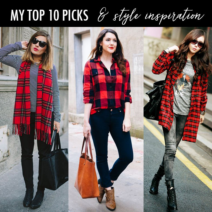 buffalo plaid shirt scarf