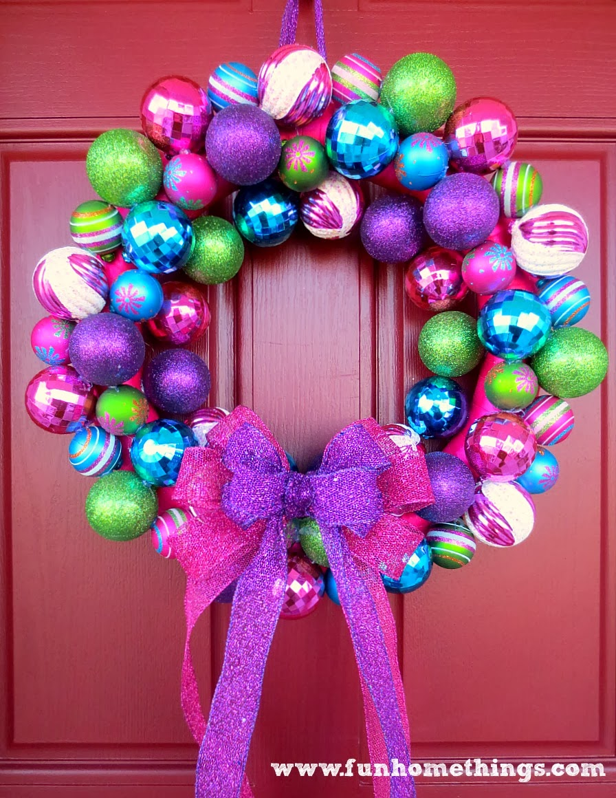Blue and purple christmas decorations -  A Very Special Christmas Ornament Wreath