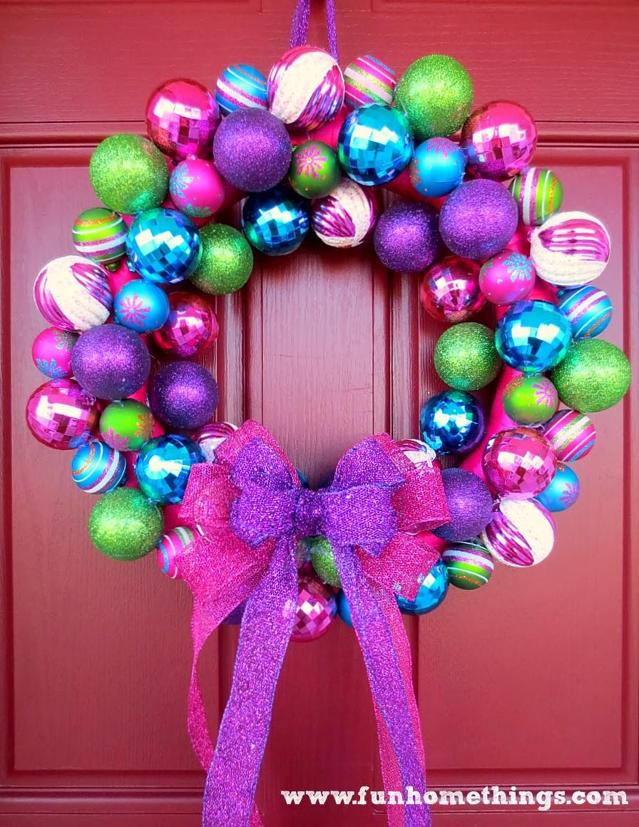 a very special christmas ornament wreath