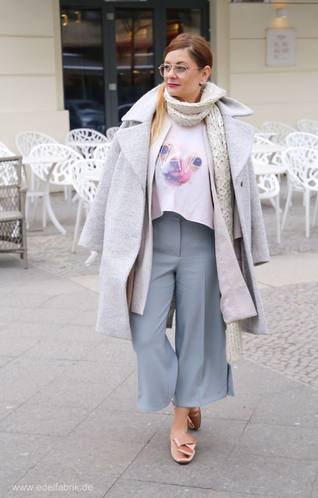 Culotte im Winter stylen, Lagenlook im Winter