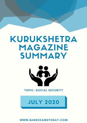 Kurukshetra Magazine Summary: July 2020