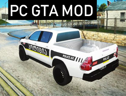 Free Download Toyota Hilux Georgia Police Mod for GTA San Andreas