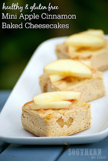 Gluten Free Baked Apple Cinnamon Cheesecakes Recipe