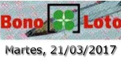 Bonoloto del martes 21 de marzo de 2017