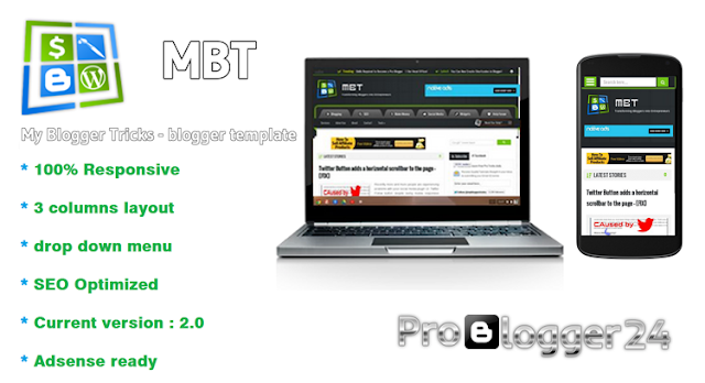 mbt blogger template, my blogger tricks template