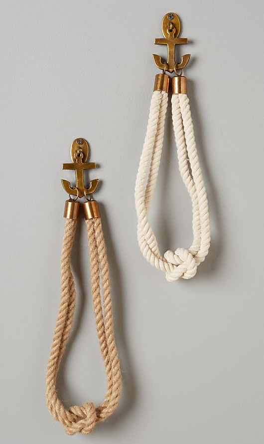 Anchor Rope Hook Curtain Tie Backs