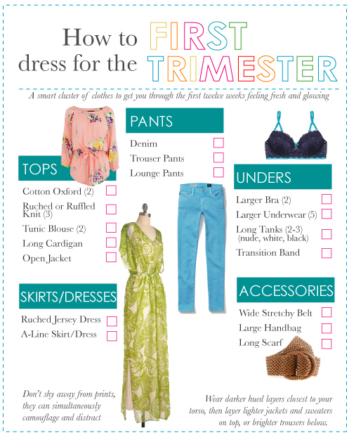 How to Dress to Hide Your Baby Bump: The First Trimester
