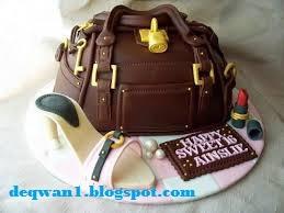 kue ulang tahun motif tas sepatu