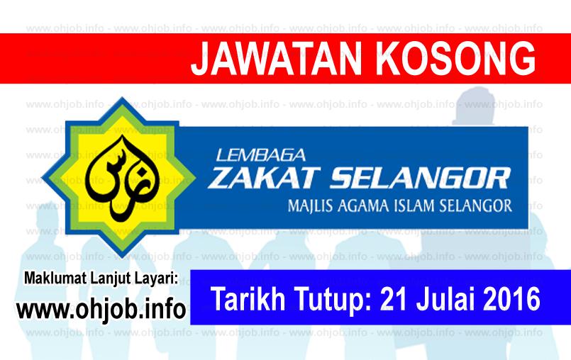 Jawatan Kerja Kosong Lembaga Zakat Selangor (MAIS) logo www.ohjob.info julai 2016