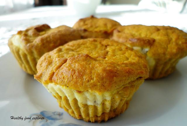 Muffinki dyniowe z nadzieniem