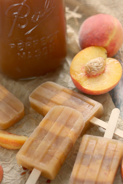 Sweet Tea Peach Popsicles (with or without Peach Bourbon)