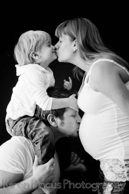foto de grávidas com a família