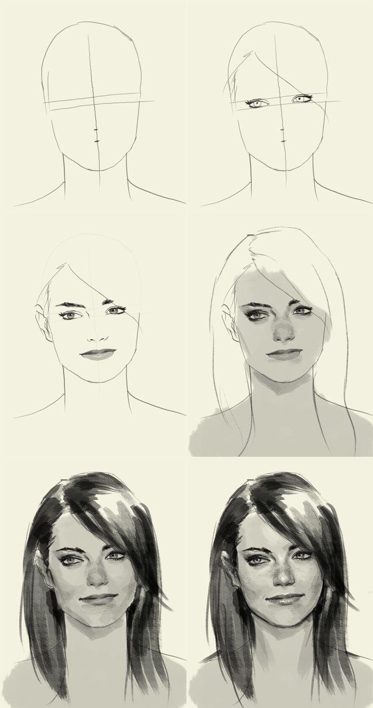 كيفية رسم الوجه بدقة تمارين لتحسين الرسم مدونة القبعة الخضراء