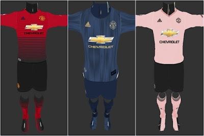 121afa501b3 Manchester United 2018 2019 Kits - PES 2013