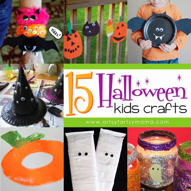 15 Halloween Kids Crafts from Artsy Fartsy Mama