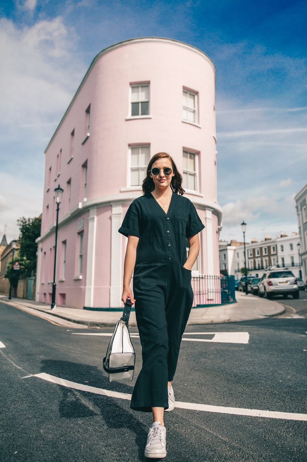 Monki Jumpsuit London Pink House Holland Park OOTD Fashion Blog - My Month Long Shopping Ban - The Results // Lauren Rose Style Blogger London