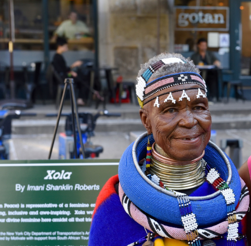 Legendary Ndebele Artist Esther Mahlangu Honoured With Street Mural In New York City