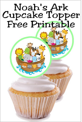 Enjoy some animal fun at your next birthday party or baby shower with this fun Noah's Ark party theme. These printable Noah's Ark cupcake toppers can be used for decorating your party cupcakes, your invitation envelopes, whirly pop suckers, or any party decoration that you need. Be sure to save this free printable and check out the other coordinating Noah's Ark party printables. #noahsark #cupcaketopper #printableparty #diypartymomblog