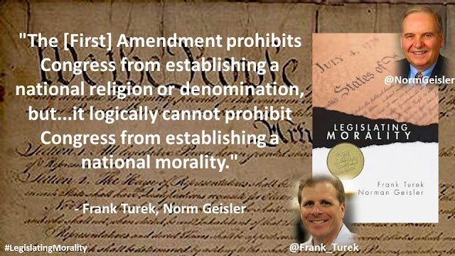 """The [First] Amendment prohibits Congress from establishing a national religion or denomination, but...it logically cannot prohibit Congress from establishing a national morality."""