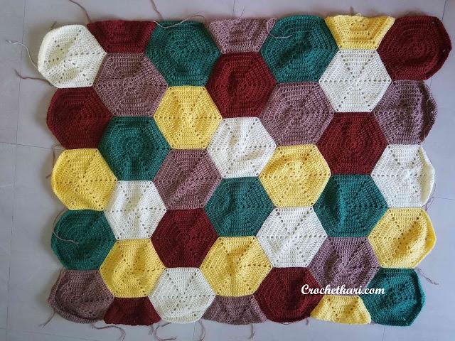 Crochetkari hexagon blanket pattern