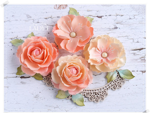 Peach Foamiran Roses