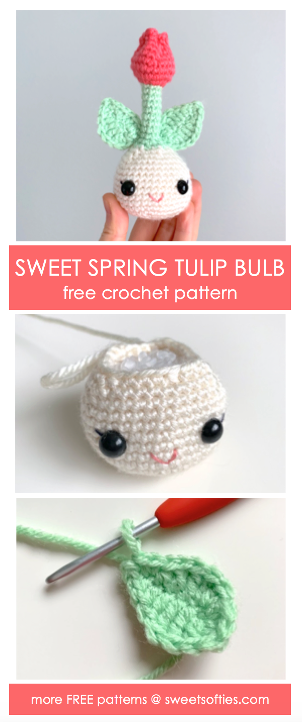 Crochet Spring Flower Bulb Doll Amigurumi Free Patterns | 1430x600