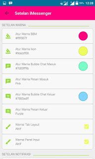 BBM MOD iMessenger V5 v.2.13.1.14 Apk Terbaru