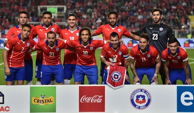 Formación de Chile ante El Salvador, amistoso disputado el 5 de junio de 2015